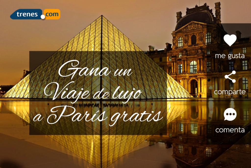 Gana un viaje en Primera Clase en Tren a París más Hotel de 5 estrellas