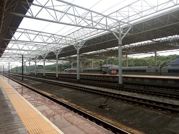 Obras en la estación de trenes AVE de Guadalajara octubre 2017