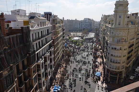 Las Fallas de Valencia 2018 llegan a la estación de trenes de Atocha