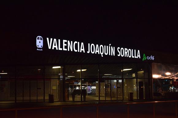 Obras en la línea de trenes Valencia Puçol en agosto 2018