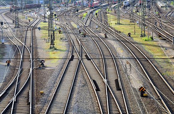 Obras en la vía de los trenes Sagunto Castellón 2018