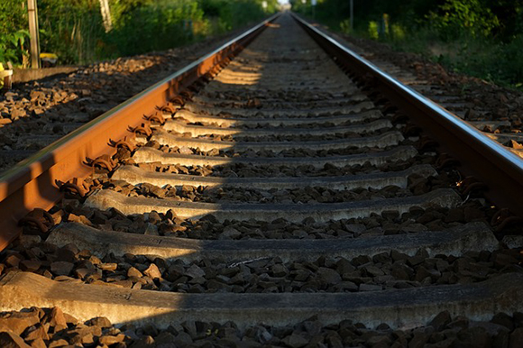 Cambio de traviesas de la línea de tren Sevilla Huelva 2018