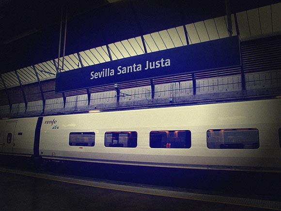 Las obras de los trenes AVE Sevilla Málaga julio 2019