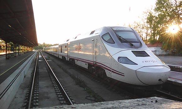 La estación de trenes de Puebla de Sanabria en 2019