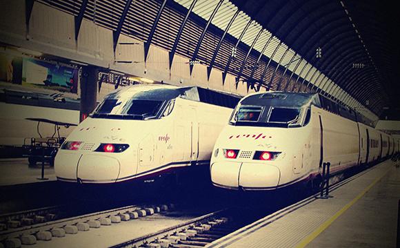 El mantenimiento de los trenes AVE de León en enero 2020
